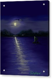 Moon Light Acrylic Print by Twinfinger