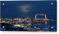 Acrylic Print featuring the photograph Moon-lit Arrival by Gregory Israelson