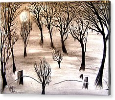 Moon Lit Fog Acrylic Print