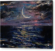 Moon Acrylic Print by Michael Creese