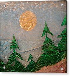 Moon Mist  Acrylic Print by Rick Silas