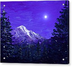 Moon Mountain Acrylic Print by Anastasiya Malakhova