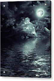 Moon Mysterious Acrylic Print by Boon Mee