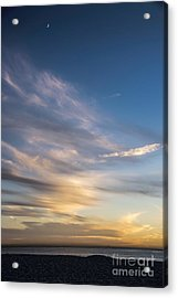 Moon Over Doheny Acrylic Print by Peggy Hughes