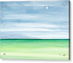 Moon Over Islamorada Acrylic Print by Michelle Wiarda
