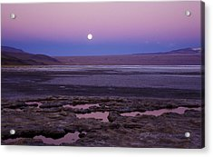 Acrylic Print featuring the photograph Moon Over Laguna Colorada by Lana Enderle