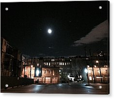 Moon Over Midtown Acrylic Print