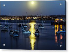 Moon Over Monterey Bay Acrylic Print