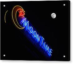 Moon Over Moon Time Acrylic Print