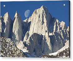 Moon Over Mt Whitney Acrylic Print