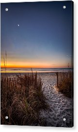 Moon Over Myrtle Beach Acrylic Print