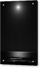 Moon Over Ocean Acrylic Print