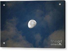 Moon Over Philadelphia Acrylic Print