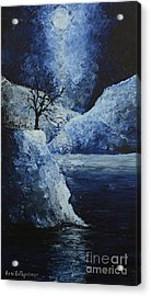Moon Over Acrylic Print by Roni Ruth Palmer