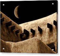 Moon Over Santa Fe Acrylic Print