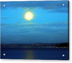 Moon Over Seattle Acrylic Print