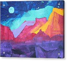 Moon Over Sedona Acrylic Print by Nancy Jolley
