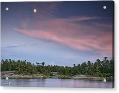 Moon Over The Bay Acrylic Print by Phill Doherty