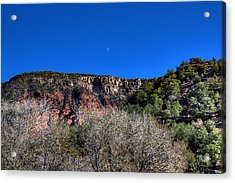 Moon Over The Mesa Acrylic Print
