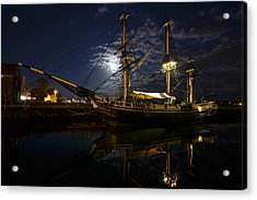 Moon Over The Salem Friendship Acrylic Print by Toby McGuire