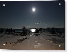 Moon Over The Samoset Acrylic Print