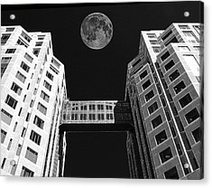 Moon Over Twin Towers Acrylic Print