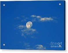 Moon Over Washington Dc Acrylic Print