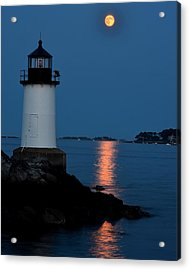 Moon Over Winter Island Salem Ma Acrylic Print