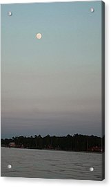 Moon Over Lake  Acrylic Print