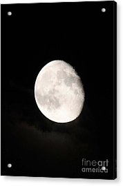 Moon Photographed In Black And White Acrylic Print by John Telfer