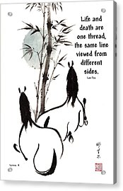 Moon Reverence With Lao Tzu Quote I Acrylic Print by Bill Searle