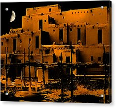 Moon Rise At The Pueblo Acrylic Print