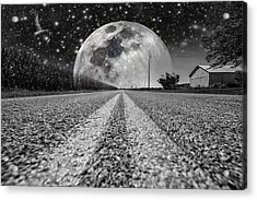 Moon Rise Country  Acrylic Print