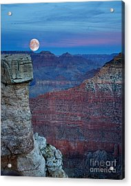 Moon Rise Grand Canyon Acrylic Print