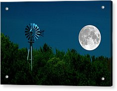Moon Risen Acrylic Print by Randy Pollard