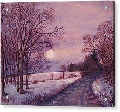 Moon Rising Acrylic Print by Joy Nichols