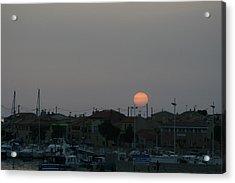 Moon Rising Over Carol South France Acrylic Print