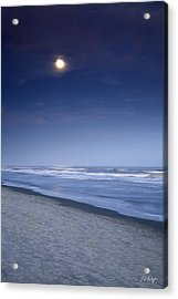 Moon Rising Over Hilton Head Acrylic Print by Phill Doherty