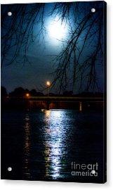 Moon Set Lake Pleasurehouse Acrylic Print
