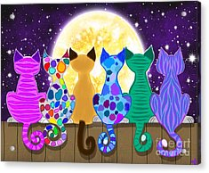 Moon Shadow Meow Acrylic Print