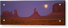 Moon Shining Over Rock Formations Acrylic Print by Panoramic Images