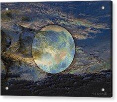 Moon Theatrics Acrylic Print by J Larry Walker