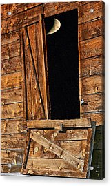 Moon Through The Barn Door Acrylic Print
