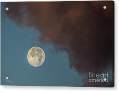 Moon Transition From Night To Day Acrylic Print by Rene Triay Photography