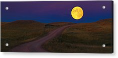 Acrylic Print featuring the photograph Moon Way by Kadek Susanto
