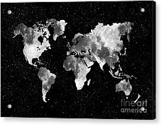 Moon World Map Acrylic Print by Delphimages Photo Creations