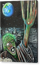 Moon Zombie Acrylic Print by Laura Barbosa