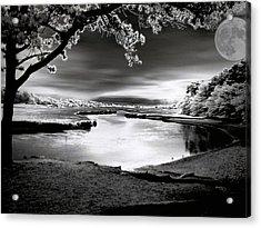 Acrylic Print featuring the photograph Moona Lagoona by Robert McCubbin