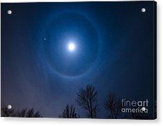 Moonbow Over Chicago 1 Acrylic Print by Deborah Smolinske
