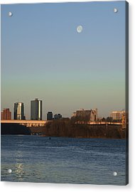 Mooning In The City Acrylic Print by Zachary Hitchcock